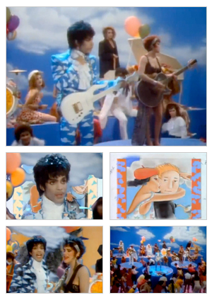 Raspberry Beret music video selected snapshots